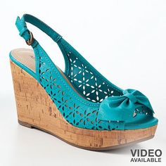 splurge of the day! (only it wasn't really a splurge because they were on sale) Apt. 9 Platform Peep-Toe Wedge Sandals