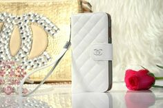 Chanel iPhone 6 Lamskin Leather Case Bag White Free Shipping - Deluxeiphone6case.com