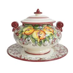 I pinned this Bordeaux Pomegranate Soup Tureen from the Abbiamo Tutto event at Joss and Main!