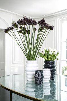 Organic Small Vase by Kelly Wearstler Faux Flowers, Diy Flowers, Fresh Flowers, Flower Vases, Centerpiece Decorations, Flower Decorations, Driftwood Chandelier, Faux Flower Arrangements, Tulip Bouquet