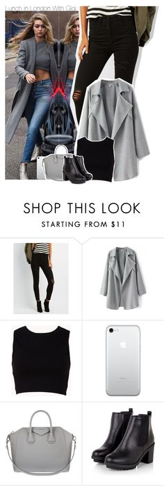 """""""Lunch in London With Gigi"""" by xcuteniallx ❤ liked on Polyvore featuring Refuge, Forever 21 and Givenchy"""