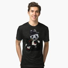 Retro Pilot Panda Tri-blend T-Shirt #artprint #popart #humor #cute #parody #lol  #panda #pandas #bear #bamboo #china #retro #pilot #plane  #aircraft #sciencefictions #scifi #babypanda #cigarette #mafia #animals #tuxedo #beer #valentinesday