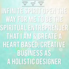 Infinite Spirit open the way for me to be the spiritual entrepreneur that I am & create a heart based creative business as a holistic designer. www.melindamcqueendesign.com