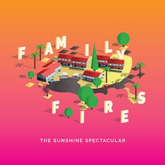 Family Fires #poplcara #cover #music #colorfull #illustration