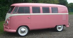 pink bus, now that's a blast from the past.