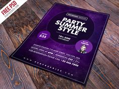 Freebie : Summer Party Flyer Free Psd Template
