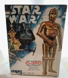 Old Vintage MPC Star Wars 1977 Moveable Model Kit C-3PO C3PO Toy Action Figure  #MPC
