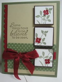 Handmade Cards - Craft ~ Your ~ Home.....not sure it's the right verse for the card but I like the layout and colors!