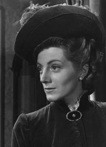 """Sarah Churchill in primo piano I Fotografia del film """"Daniele Cortis"""" - Regia Mario Soldati 1947"""
