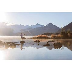 Gone fishin' in Garibaldi Provincial Park just north of Squamish.   Photo by @hannahkeiver via Instagram #explorebc #explorecanada