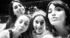 Leticia, Laura, Vanesa y Mariana (Nieves, Diana, Carmela y Esperanza en Esperanza Mia) en ensayos del Luna Park