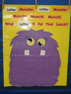 Letter Identification. I am so making this and then using it for numbers, letters, and words