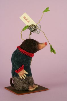 Little brown mole - another idea for the vintage mohair....