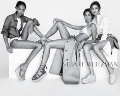 Lily Aldridge, Gigi Hadid & Joan Smalls - Stuart Weitzman SS16 campaign