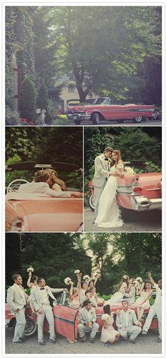 classic vintage wedding car - 100 layer cake