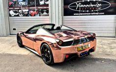 Rose Gold Ferrari 458 Spider 2 600x371