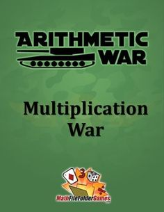 Arithmetic War: Multiplication Game http://www.teacherspayteachers.com/Product/Arithmetic-War-Multiplication-Game-1037377 #Free #Math