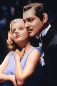 Jean Harlow and Clark Gable, SARATOGA (1937).