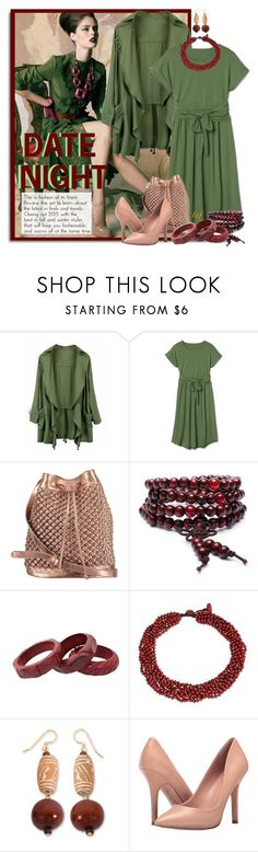 """Date Night In Green"" by lois-boyce-flack ❤ liked on Polyvore featuring nooki design, NOVICA and Charles by Charles David"
