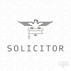 The eagle holds a scroll with a seal. Executed in shades of gray in a simple linear style. Some key ideas: legality, official, compliance with laws, rigor, precision