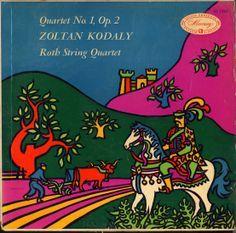 Roth Quartet-Kodaly: Quartet label: Mercury MG Design: George Maas Music Covers, Album Covers, Mercury Records, Record Art, Yellow Submarine, Flower Power, Graphic Design, Illustration, Artwork
