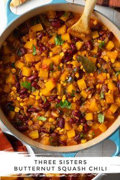 Chilli Recipes, Veggie Recipes, Whole Food Recipes, Vegetarian Recipes, Healthy Recipes, Vegan Bean Recipes, Vegan Crockpot Recipes, Vegetarian Cooking, Veggie Food