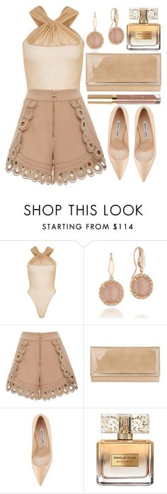"""""""Nude"""" by wolfiexo ❤ liked on Polyvore featuring Maticevski, Tacori, self-portrait, Jimmy Choo, Manolo Blahnik, Givenchy, chic, natural, nude and polyvorefashion"""