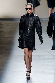 Prabal Gurung NYFW FW2013014.  And now some leather.