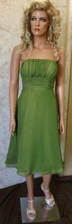 Olive green chiffon bridesmaid dresses