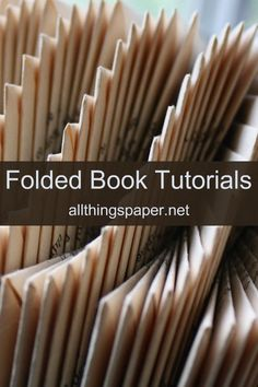 Via Heather Eddy's free step-by-step instructions learn to fold books into shapes and letters. Recycled Book Crafts, Old Book Crafts, Book Page Crafts, Book Page Art, Book Pages, Paper Crafts, Recycled Clothing, Recycled Fashion, Book Folding Patterns Free