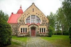 Church-of-Vuolijoki - Vuolijoki – Wikipedia Finland Little Brown, All Over The World, Finland, Cabin, Mansions, Country, House Styles, Beautiful, Home Decor