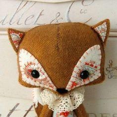 woodland fox pattern... I think it could be  amigurumi-ed pretty easily