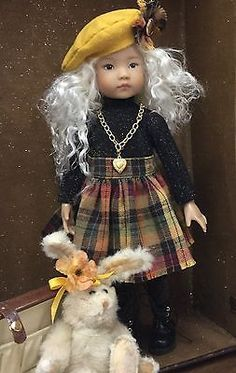 """Dianna Effner 13"""" Little Darling """"Scottish Girl"""" Outfit includes Wig/Boots"""