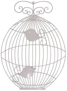 BIRDS IN A CAGE WALL DÉCOR - CREAM from Jash Living