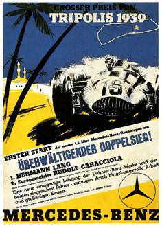 Demostración de poder Mercedes... Mucho antes de hacer taxis... Tripolis 1939 #GP #Mercedes