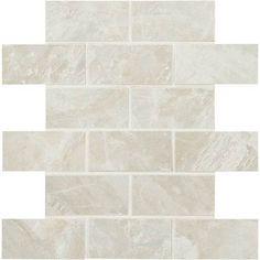 Mirasol™ GLAZED PORCELAIN Hover to Zoom        SILVER MARBLE 2 X 4 MOSAIC ML72 Porcelain Mosaic Tile