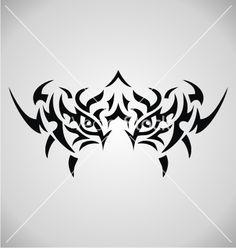 Tribal tiger eyes vector 2095451 - by VectoryOne on VectorStock®