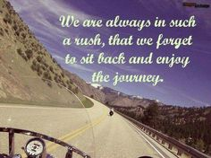 Enjoy the journey #motorcycle