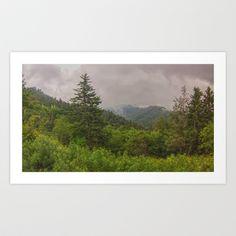Appalachian Trail - NC/TN Border Art Print by Grandmachismo - $14.04