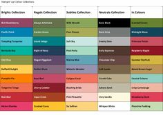 The Fine Art of Stampin' Stampin up Color chart 2013
