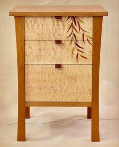 Koocher Nightstand right Unique Furniture, Custom Furniture, Furniture Making, Luxury Furniture, Painted Furniture, Furniture Design, Fine Woodworking, Woodworking Projects, Craftsman Style Furniture
