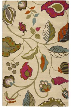 Sasha Area Rug: colorful floral. #HDCrugs HomeDecorators.com