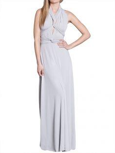 Von Vonni Transformer Dress - Silver, Long
