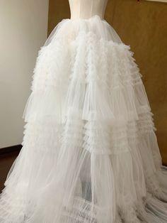 Ruffle Fabric, Ruffle Curtains, Bridal Dresses, Flower Girl Dresses, Dress Cake, Luxury Wedding Decor, Retro Floral, Scalloped Lace, Tulle Lace
