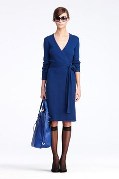 DVF's wool-cashmere Linda dress. I am fairly sure I need this.