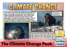 Learn about climate change, its effects and what we can do to help, with our enormous teaching pack. It includes topic guides, a video introduction, printable activity resources and display materials. Science Curriculum, Science Resources, Activities, Teaching Packs, About Climate Change, Greenhouse Gases, Photosynthesis, Geography