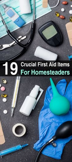 Homesteaders have a unique set of medical needs. By purchasing your first aid items individually, you can customize your kit to match your lifestyle.