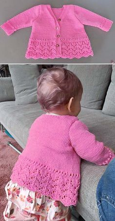 Precious Emilia – Free Pattern Free Knitting Pattern Source by stevestongarden The post Precious Emilia – Free Pattern appeared first on How To Be Trendy. Free Baby Sweater Knitting Patterns, Baby Knitting Free, Knit Baby Sweaters, Knitting For Kids, Baby Knitting Patterns Free Newborn, Baby Girl Cardigans, Knitting Wool, Knitted Baby, Hand Knitting