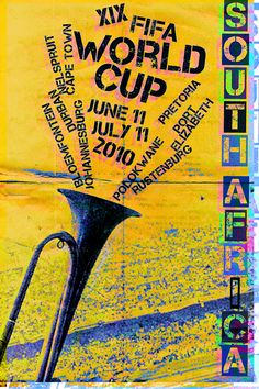 Fifa World Cup 2010 Poster #fifaworldcup #worldcup2014 #worldcupposters #vintageposters