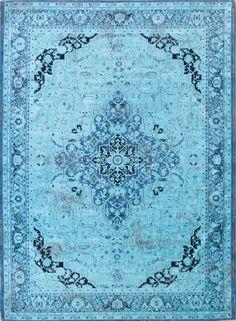 Heriz Azur Tapijt 8025 - Tapijt uit de Vintage collectie van Louis de Poortere, geïnspireerd op de traditionele Oosterse tapijtontwerpen.
